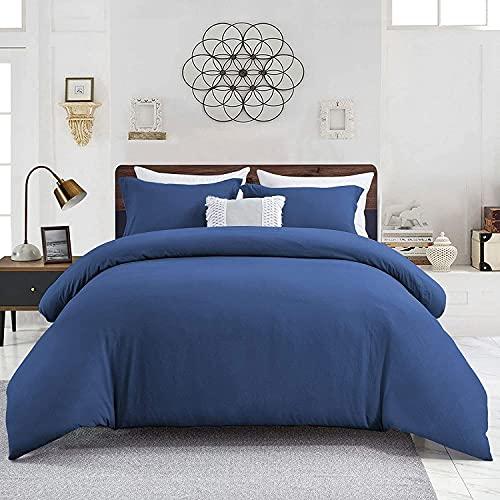 Wavve Dekbedovertrek 240 x 260 cm met 2 kussenslopen 40 x 75 cm, beddengoed voor tweepersoonsbed, grote maat, met…