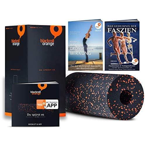 Blackroll Orange (Das Original) - Faszienrolle inkl. Übungs-DVD, Übungsposter & Booklet