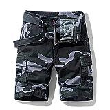 ShSnnwrl Pantalones Cortos de Hombre Pantalones Cortos Militares de algodón para Hombre, nuevosPantalones CortosInformales de Primavera