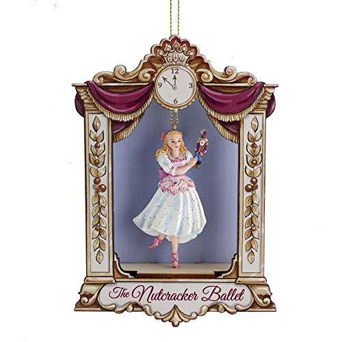 Kurt Adler E0419 Nutcraker Suite Clara on Stage Hanging Ornament, Multi-Color