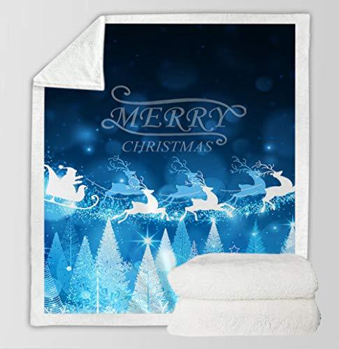 Letra Azul Manta 3D Digital Impresión Comfort Calor Suave Ajuste Acogedor Sofá Ropa De...