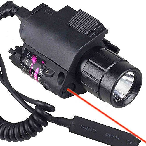MAYMOC Hunting Combo Red Dot Laser Sight & Light Rail Torch Airsoft Oplaadbare batterijlader