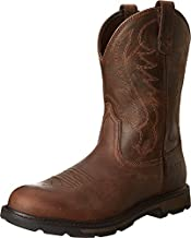 Ariat Men's Groundbreaker Pull-On Work Boot, Brown/Brown, 11 W US