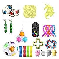フィジットのおもちゃセット、24個の安い感覚玩具パックプッシュポップバブル、ストレスボール大理石のメッシュ、ストレスリリーフおもちゃ、ストレスリリース、不安のおもちゃ、子供のための贈り物 (Color : 24pcs)