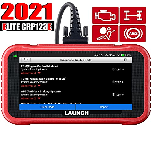 LAUNCH OBD2 Skanner CRP123E motor ABS SRS Transmission obd 2-skanner Wi-Fi gratis uppdatering, 5-tums pekskärm, utskrift diagnostisk rapport batteritest, auto VIN uppgraderad CRP123