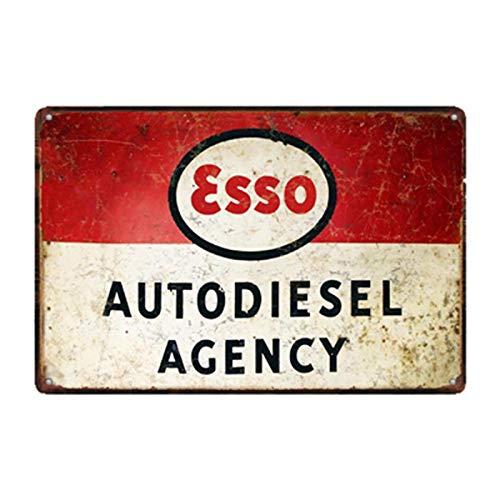 Cling Placa de Aceite de Motor, Carteles de Chapa de Metal Vintage, estación de Servicio de Garaje, Servicio de neumáticos Decorativos, póster de Arte de Pared Retro 3644