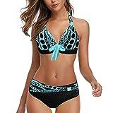 Traje De Baño Mujer Sexy de Lunares de Playa Sujetador Push-up Bikinis con Relleno Brasileño BañAdores de Dos Piezas Tops y Braguitas Ropa de Playa vikinis riou