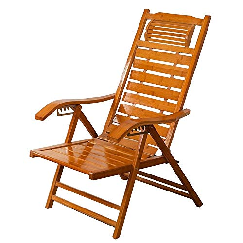 LZMXMYS lounge chair outdoor foldable,ReclinersBamboo Rocking Chair Lazy Chair Lounge Chair Leisure Lunch Break Chair Solid Wood Chair Lazy Chair Sun Lounger Folding Chair