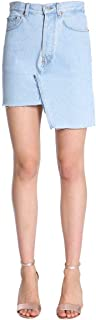 FORTE COUTURE Luxury Fashion Womens FCFW1895DENIM1 Light Blue Skirt | Season Outlet