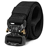 Fairwin Tactical Belt for Men, Military Style Utility Nylon Rigger Belt with Heavy-Duty Unique Quick-Release Metal Buckle