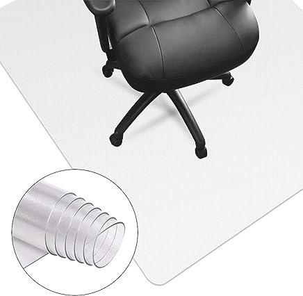 HUASUN チェアマット 超大型厚み1.5mm 机下 椅子 床を保護 デスクマット 透明 PVC 傷防止 滑り止め フロア/畳/床暖房対応 (100*120cm*1.5mm)