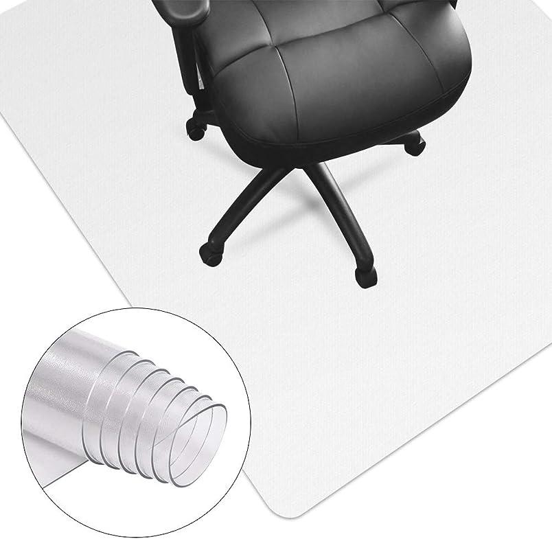 トロリーメニュー無駄にHUASUN チェアマット 超大型厚み1.5mm 机下 椅子 床を保護 デスクマット 透明 PVC 傷防止 滑り止め フロア/畳/床暖房対応 (100*120cm*1.5mm)