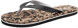 Massage Foam Flip Flops Non Slip Beach Sandals Water Resistant Poolside Footwear (Color : J, Shoe Size : 41)