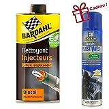 Nettoyant injecteur Diesel Bardahl 1L + Abel auto Soin des plastiques 400ml Offert