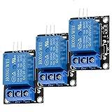 AZDelivery 3 pcs 1 Canal KY-019 Modulo Rele 5V High-Level-Trigger compatible con Arduino con E-Book incluido!
