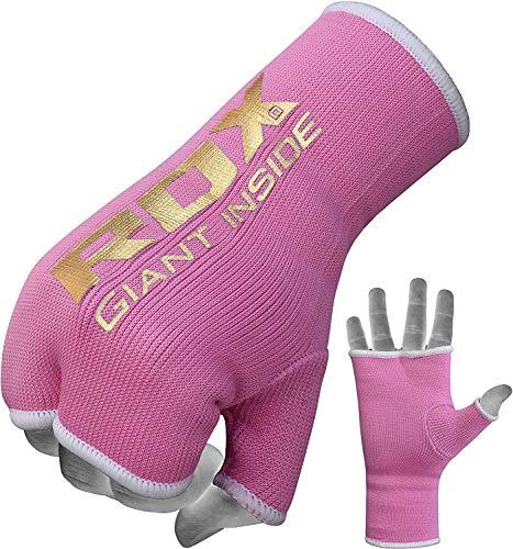 RDX Boxbandagen Elastisch Boxen Innenhandschuhe Damen MMA Handschuhe Daumenschlaufe (MEHRWEG)