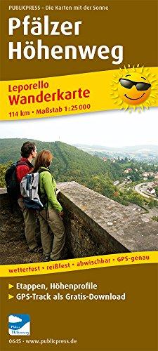 Pfälzer Höhenweg: Wanderkarte mit Ausflugszielen, Einkehr- & Freizeittipps, wetterfest, reißfest, abwischbar, GPS-genau. 1:25000 (Leporello Wanderkarte / LEP-WK)