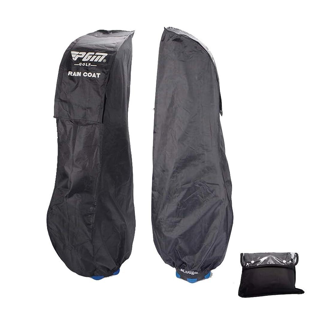 世紀コジオスコ開発雨 や 雪 から 守る ゴルフ バッグ 用 カバー 【ブラック】 収納 保管