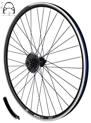 wheelsON 700c 28 inch Rear Wheel +7 Speed Shimano Cassette CS-HG200-7 12-28T QR Rim Brake