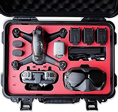 2021 VCUTECH FPV Drone Waterproof Hard Case Compatible with DJI FPV Combo, DJI FPV Goggles, Motion Controller & Drone Accessories, Top Grade Foam Insert, Anti-Crash with Full Protection