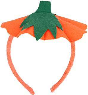 Halloween Headband Pumpkin Hat Hair Bands Hair Hoop Halloween Costume Dress up Party Supplies - (Orange)