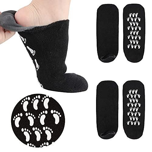 2 Pairs Men Women Moisturizing Socks, Soft Moisturizing Gel Socks - Best for Cracked Heel,Rough Calluses,Soften Dry feet for Women & Men - US Men 5-9.5 Women 8.5-10