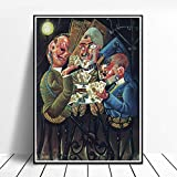 CNHNWJ Dix Gemälde Otto Poster Dekor Home Wand Bilder