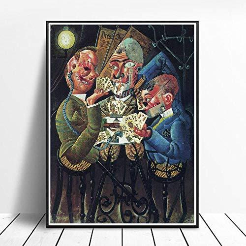 CNHNWJ Dix Gemälde Otto Poster Dekor Home Wand Bilder Indoor Korridor Wandbilder Wohnzimmer Bild Leinwand Materialismus Abstrakte Grafik 40x60cm Rahmenlos