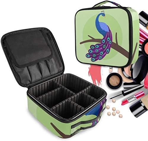 Cosmétique HZYDD Bleu Peacock Make Up Bag Trousse de Toilette Zipper Sacs de Maquillage Organisateur Poche for Compartiment Femmes Filles Gratuit