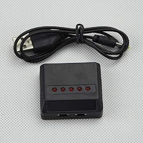 JEOSNDE 5 en 1 Adaptador de Interfaz 3.7 V Cargador de batería de Lipo USB for X5c X5c-12.4g no Incluyen Solamente el Cargador de la batería (Color : Black)