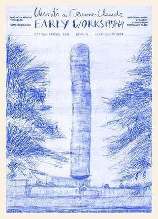 Germanposters Christo Documenta Kassel (1968) Poster Kunstdruck mit Holz Rahmen in Ahorn Weiss lasiert