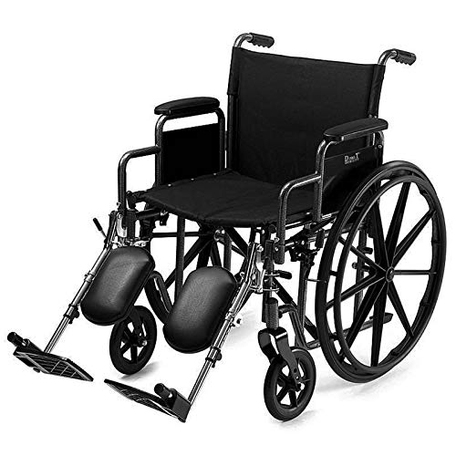 D PRO T Extra Wide Seat 24' Wide Wheelchair Folding Self Propelled Puncture Proof With MAG Wheel 30 stone limit