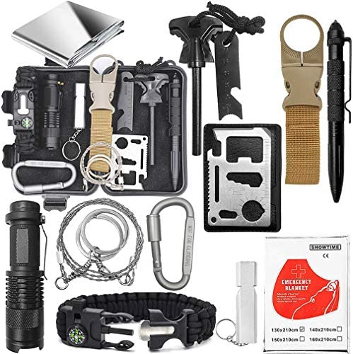 Emergency Survival Gear Kit Gifts For Christmas Birthday Fathers Day Graduation Edc Tool for product image