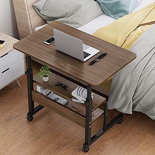 YWYW Mesa para computadora portátil sobre la Mesa de la Cama, Carro para computadora portátil de Altura Ajustable Computadora móvil/Computadora portátil Escritorio Sofá Mesa con Ruedas, Lectura