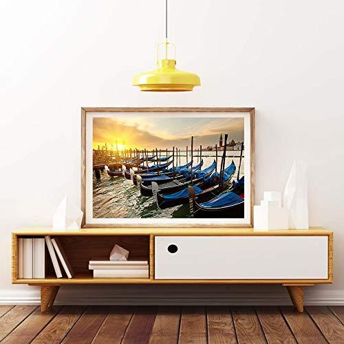 Kein Rahmen Moderne wandkunst ölgemälde Venedig Italien Stadt Reise Foto Hause ölgemälde...