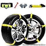 Snow Chains Anti-Skid Emergency Snow Tire Chains, Anti Slip Tire Chains, Portable Emergency Traction Snow Mud Chains Universal Adjustable 10pcs Car Security Chains for SUV and Cars (Orange-10pcs)
