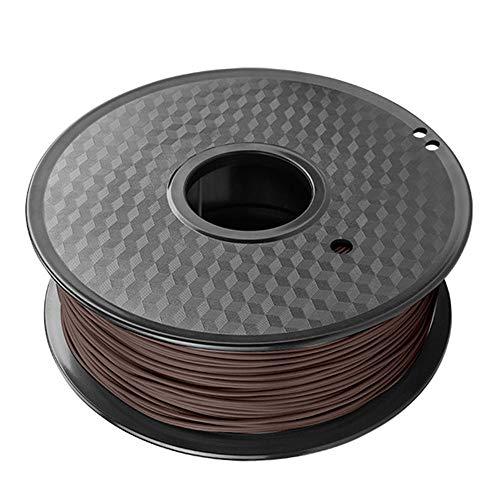 Filamento de impresión 3D de 1 kg, filamento de madera PLA de 1,75 mm, añadiendo polvo de madera natural-Madera negra