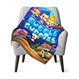 Bubble Guppies Baby Blanket Soft and Warm Blanket for Crib Nursery Receiving Plush Fleece Blankets for Toddler Boys Girls 3040inch