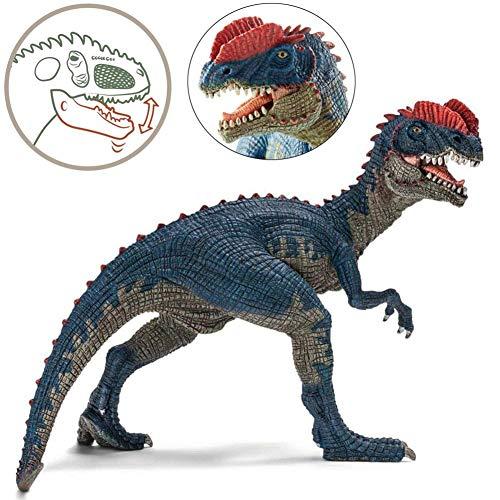 Cosy-TT Decoración de Mano de Dinosaurio, Juguetes de Dinosaurio, Dinosaurio Dilophosaurus Figura de acción de PVC de Lagarto con Cresta Doble (4 Pulgadas)