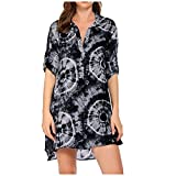 Vestido de Playa de Verano para Mujer Traje de baño Beach Cover Up Shirt...