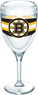 Tervis 1258301 NHL Boston Bruins Select Insulated Tumbler with Wrap, 9oz Wine Glass, Clear