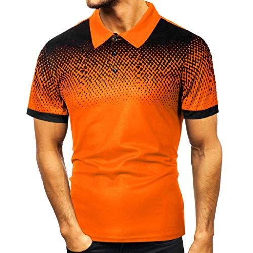 Azruma Herren Poloshirt Basic Kurzarm Polohemd Slim Fit Revers Shirt Polo-Shirts urzärmliges T-Shirt Geschäft Freizeit Shirt Classic Kurzarmhemd T Shirt