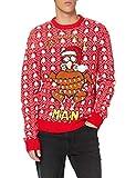 Brave Soul 230TURKEY Suéter pulóver, Red, M para Hombre