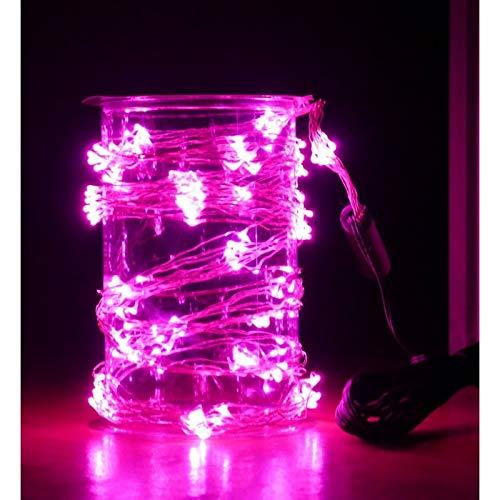 Guirlande cascade intérieur 200 LED - 150 cm - Rose