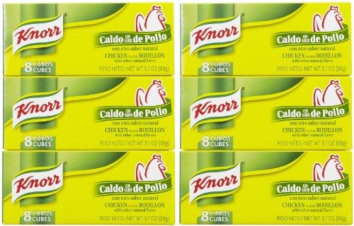 Knorr Bouillon Cubes, Chicken, 8 ct, 6 pk