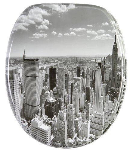 WC Sitz, hochwertige Oberfläche, einfache Montage, stabile Scharniere, Skyline New York
