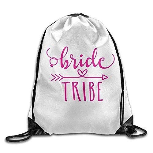 HiExotic Eco-Friendly Mochilas Unisex Bride Tribe Print Tote Sack Bag Rucksack Drawstring Backpack Travel Bag Daypack