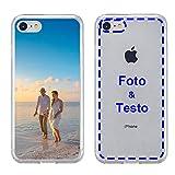 MXCUSTOM Cover Personalizzata per Apple iPhone 7/8 / SE 2020, Custodia Personalizzate con Foto Immagine Testo Design Crea Le tue [Paraurti Morbido Trasparente+Piastra Posteriore Rigida] (CHT-CR-P1)