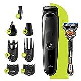 Braun MGK3260 - Cortapelos para barba 7 en 1, recortador de pelo para orejas y nariz, recortador de detalles,...