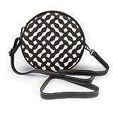 Imbuto reticolo geometrico reticolo griglia irregolare mano femminile tondo tracolla sig.ra spalla borsa passeggero borsa personalizzata
